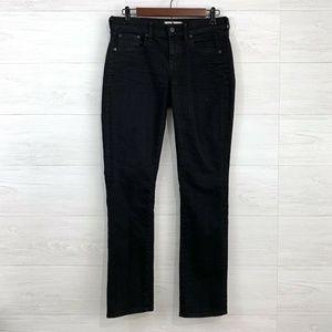 Madewell Slim Boyfriend Straight Leg Black Jeans